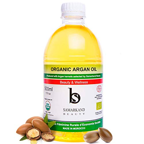 Aceite de Argán BIO 100% Puro 500 ml - Primera Presión en Frío para Pelo y Piel - El Original de Marruecos