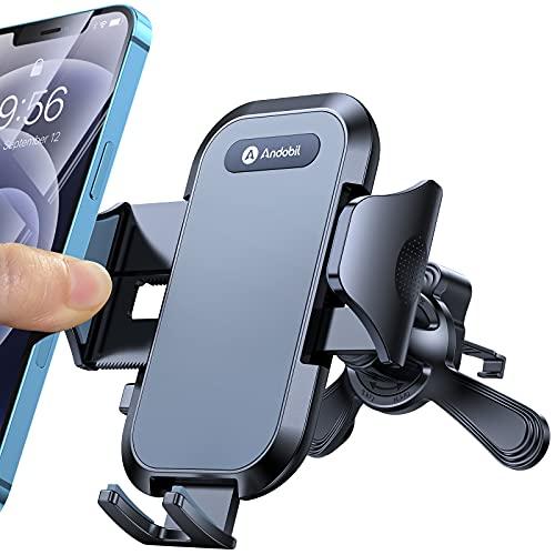 andobil Handyhalterung Auto Lüftung [ Fit All Entlüftung ] 2021 Patent Design Lüftungsclip Universal 360°Drehbar Smartphone KFZ Handyhalterung für iPhone 12 pro/12/11, Samsung S21/S20/S10, Huawei usw