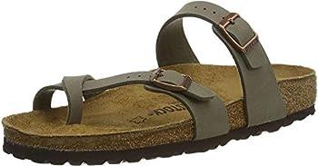 Birkenstock Womens Mayari Holiday Birko-Flor Beach Summer Flat Sandals - Silver - 6