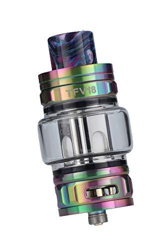Smok TFV18 Tank Clearomizer, 7,5ml, Top-Filling, Subohm-fähig, Smok Verdampfer für E Zigarette - Farbe: regenbogen