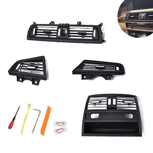 Adesivi per modanature interni auto Auto placcatura Center & destra e sinistra e posteriore della console Grill Dash AC Air Vent, for Serie 5, con utility di installazione