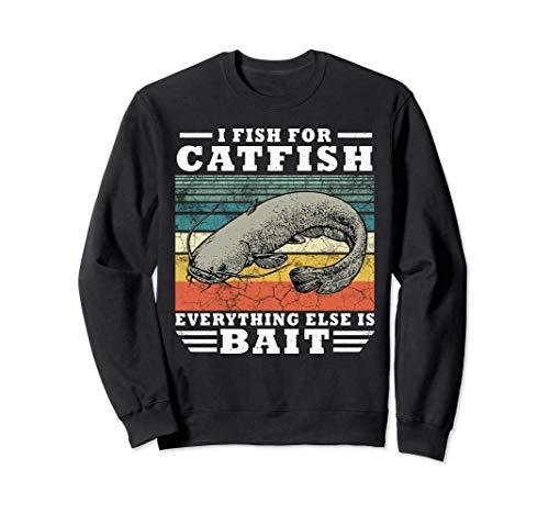 Catfish Cebo divertido del regalo de la pesca del siluro Sudadera