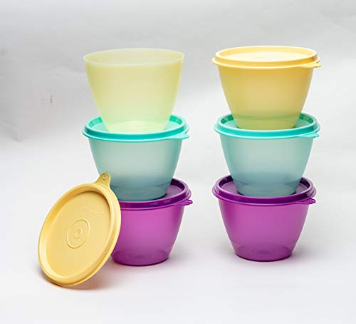 Tupperware Plastic Container - 400ml, 6 Pieces, Multicolour