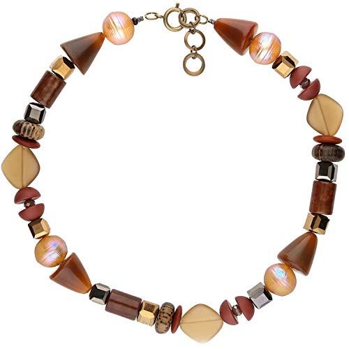 langani Collana da donna Yovi realizzata a mano Since 1952, moderna collana da donna di alta qualità, alla moda, elegante