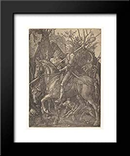 Albrecht Durer - 20x24 Framed Museum Art Print- Knight, Death, and The Devil