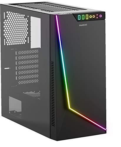 Gamdias 16331-00400-00000-G Case Argus M1 Mid Tower Argb Luci Vetro Temperato