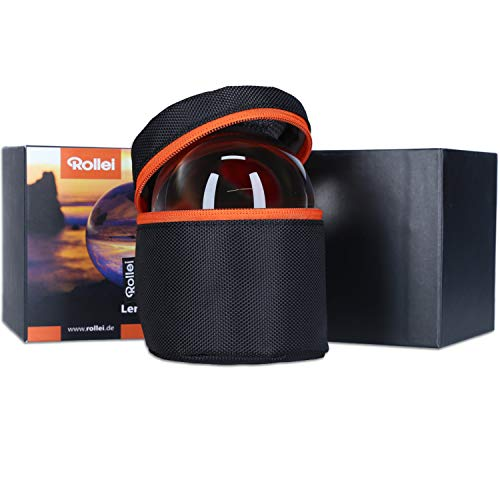 Rollei Lensball 60mm I Glaskugel I Kristallkugel I Foto-Kugel mit Aufbewahrungstasche & Mikrofaser Reinigungstuch für Glaskugel-Fotografie