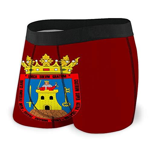 fgdhfgjhdgf 100 Calzoncillos Boxer Personalizados para Hombre Bandera de Lorca en la región de Murcia en españa XXL