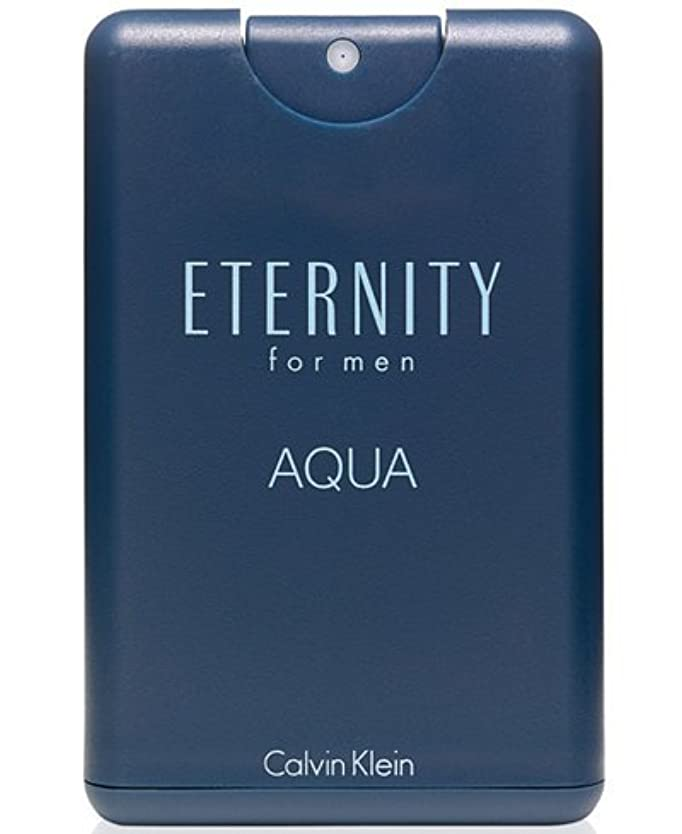 連合足音砂Eternity Aqua (エタニティー アクア) 0.67 oz (20ml) EDT Pocket Spray by Calvin Klein for Men