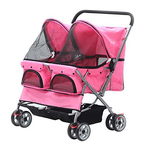 LBBL Pet Travel Stroller Carro Cuatro Ruedas Plegable Carrito para Perros Y...