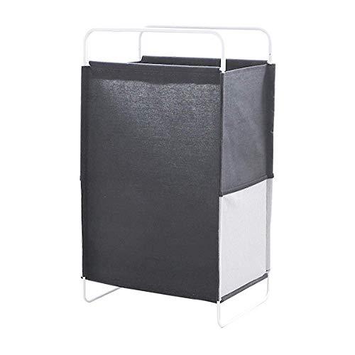 BJYG Cestas de lavandería Cesto de Ropa Sucia Ropa Sucia Cesto de lavandería Ropa Plegable Cubo de Almacenamiento de Juguetes Contenedor de lavandería, 40 * 29 * 70Cm-Negro