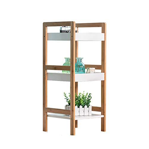 Casiers de rangement Rack de stockage multi-couche rack rack de stockage salle de bains salle de bains étage rack rack de stockage de cuisine salle de bain en bambou étagère