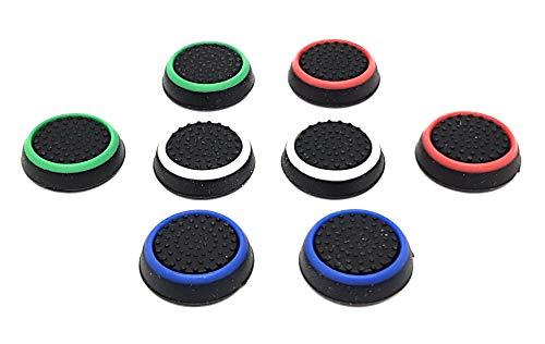 DigitalTech® - 8 Agarres para pulgar para cónsolas. Grips compatibles con PS4, PS3, XBOX 360, XBOX One, Wii y Wii U.