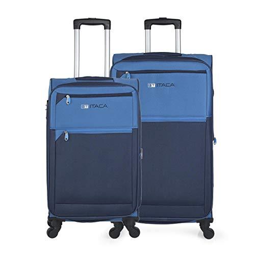 ITACA - Juego de Maletas de Viaje Mediana y Grande 701016, Color Azul-Azul Marino