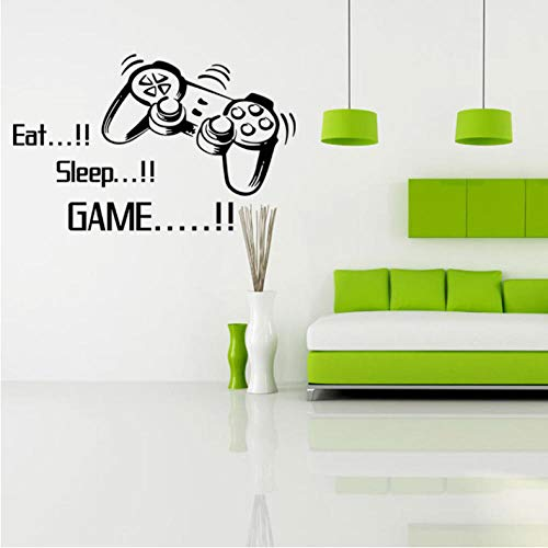 Xxscz Cartoon Gamepad muur kunst muurschildering Eet Slaap Spelen Wandcitaat Papier Decal Jongens Kamer Decoratie Grafische Home Art Decal Sticker