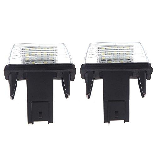 Cikuso 2pcs SMD Lampe LED Voiture Plaque de Numero de Serie Peugeot 206 207 306 307 406 407 Citroen C3