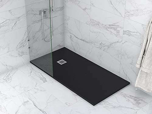 MASAL TECH DESING - Plato de ducha, textura PIZARRA NEGRO 90x150 cm, antideslizante y de fácil colocación.