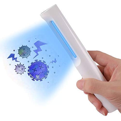 UVILIZER Wand - UV Light Sanitizer & Portable Ultraviolet Sterilizer (Handheld UV-C Cleaner for Home, Baby Room, Car, Travel, Air   Rechargeable UVC Disinfection Lamp   No Odors, Toxins, Water   USA)