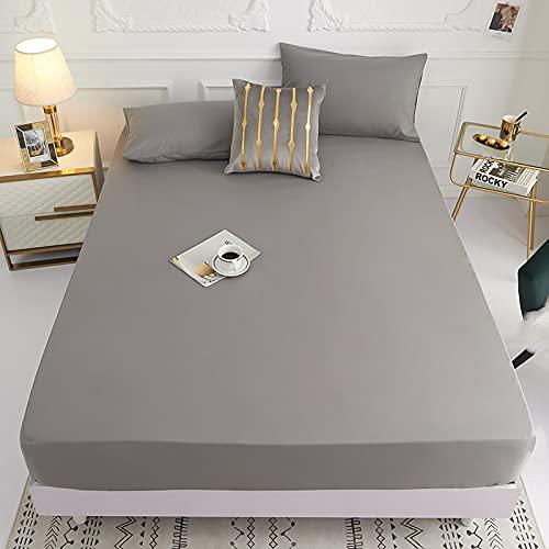 Lamcomt 1 funda de colchón de 100% poliéster sólido con cuatro esquinas con banda elástica para cama (funda de almohada de solicitud) (color: huise, tamaño: fundas de almohada de 50 cm x 70 cm)