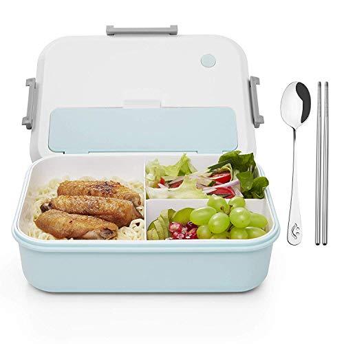 Thousanday Fiambreras para Niños | Lunch Box Azul 2 Cubiertos de ...