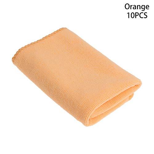 jumpeasy 10 stks Keuken Dineren Microvezel Schotel Huishoudelijke Afvegen Rags Scrubing Waxing Auto Was Handdoek Polijsten onesize ORANJE