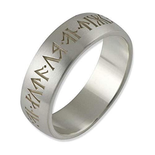 Herr der Ringe/Hobbit Schmuck by Schumann Design Runen Ring der Zwerge aus 925 Silber 10004062