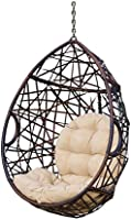 Christopher Knight Home 312592 Cayuse Indoor/Outdoor Wicker Tear Drop Hanging Chair (Stand Not Included), Multi-Brown...