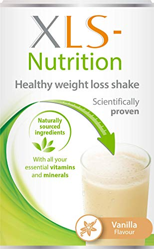 XLS-Nutrition Weight Loss Meal Replacement Shake - Weight Control Diet Supplement, 400 g, Vanilla Flavour, 10 Servings