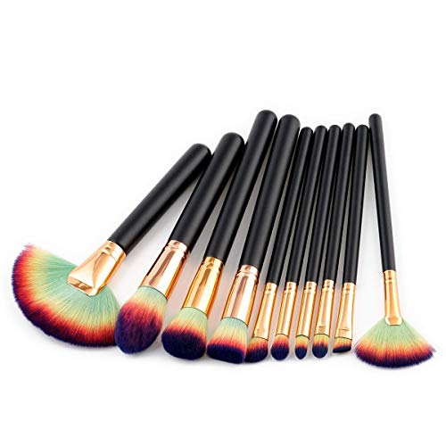 TYWZJ Hochwertiges Make-up-Werkzeug Zubehör Hochwertige Make-up-Pinsel-Sets 10 Sticks...