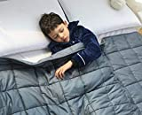 Amy Garden Weighted Blanket (36x48 Inch, 5 lbs for 40-70 lbs Individual, Grey) | Kids Heavy Blanket