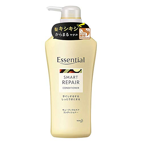 Kao Essential Smart Repair Cuticle Care Conditioner 480ml - Fruity Floral (Green Tea Set)