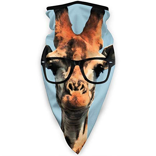 Nother Divertida máscara de jirafa con gafas de sol, resistente al viento, máscara para exteriores