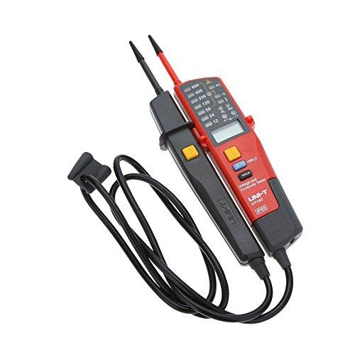 UNI-T UT18C Spannungs- und Durchgangspruefer Auto Bereich Spannungs- und Durchgangspruefer mit LCD/ LED-Anzeige Datum Halten RCD-Test und keine Batterie Erkennung