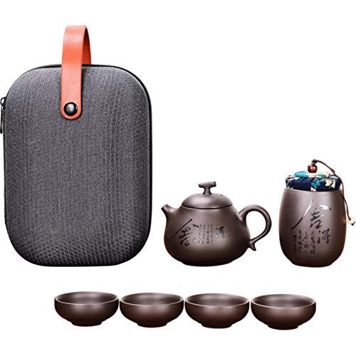 Kung Fu Teekanne Teeservice Teekanne Wasserkocher Chinesische Reise Keramik Tragbares Teeset Keramik Tablett Kaffeetasse…