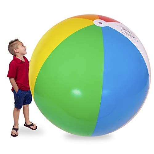 Narwhal Novelties 6 Foot Large Beach Ball; Rainbow, Gigantic, Jumbo Inflatable Beach Ball (6 Foot...