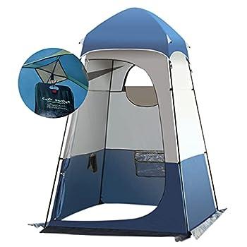 Portable Tente de Douche Camping, Étanche Cabine de Changement Extérieur Tentes de Toilette Abri de Plein Air, 160 * 160 * 240 CM, Peut Accrocher Un Sac de Douche 20L