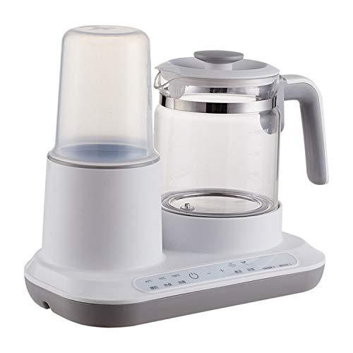 MYRCLMY Bable Baby-Flaschenwärmer Mit Elektro-Teekanne - Schnell Glas Wasserkocher Muttermilchwärmer Mit LED-Anzeige, Nacht Füttern, Steaming Babynahrung