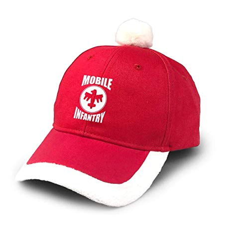GGdjst Weihnachtsmützen, Mobile Infantry White Design Starship Troopers Christmas Hats Red Santa Baseball Cap for Kids Adult Families Celebrate New Year Party