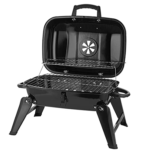 CUSIMAX Charcoal Grill, Portable Grill BBQ and...
