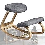Aocay Kniestuhl Ergonomisch, Kniehocker Ergonomisch für das Büro, Sitzhocker Bürohocker mit Einem 6cm Dicken Bequemen Kissen - Linderung von Nacken- und Beinermüdung