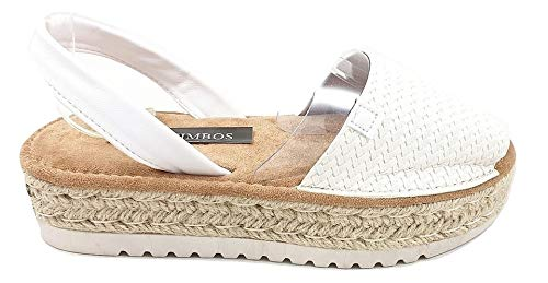 Timbos Zapatos - 122709- Menorquina Plataforma Esparto, Verano para Mujer en Color Blanco (Blanco, Numeric_41)