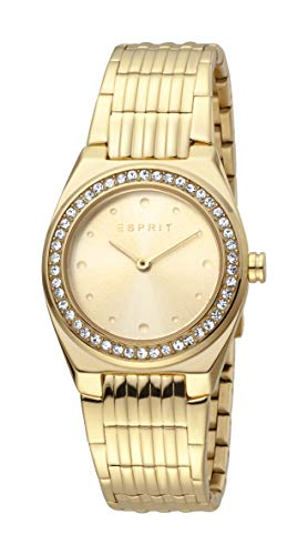Esprit ES1L148M0065 Spot Champagne Uhr Damenuhr vergoldet 3 bar Analog Gold