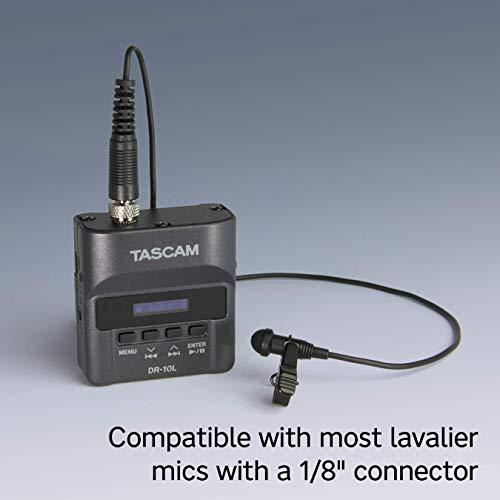 Tascam DR-10L Digital-Audiorecorder mit Lavalier-Mikrofon, black