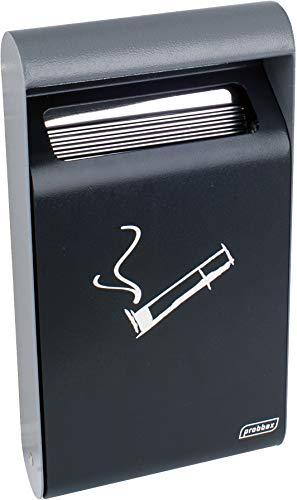 Probbax AT-0222-DGRY Cenicero de Pared Exterior, Acero, Negro, 35 x 19 x 6,4 cm