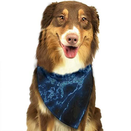 Donkerblauw marmer aangepaste hond kat Bandana driehoek slabbetjes sjaal huisdier geschikt voor kleine tot grote hond katten
