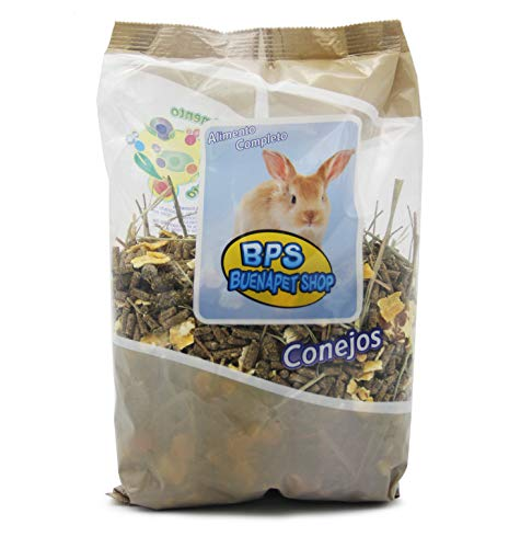 BPS Pienso Conejo Alimento Completo Comida con Formula Alta Energía Material Natural Receta Equilibrada con Base Científica 700g BPS-4029