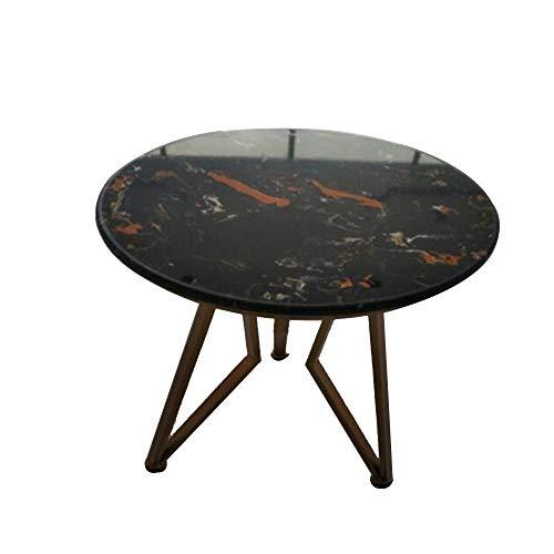 Desk Xiaolin Console en marbre, Salon Iron Art Petite Table d'appoint Ronde de Table, Table d'entrée d'entrée Meuble d'entrée Blanc 14.9\