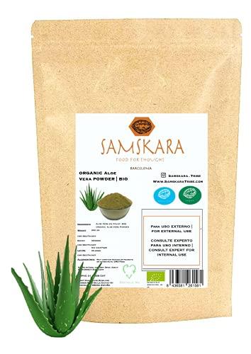 Aloe Vera en Polvo   cultivo Ecológica BIO   Samskara   250gr   para uso externo   rico en vitamina C (250 gr)