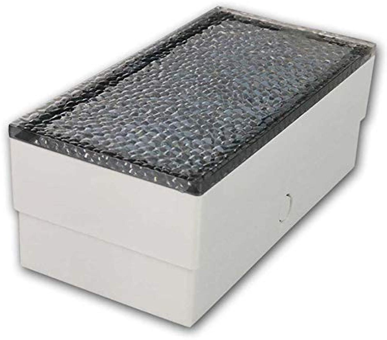 2x LED Bodenleuchte Pflasterstein 20x10, warmwei