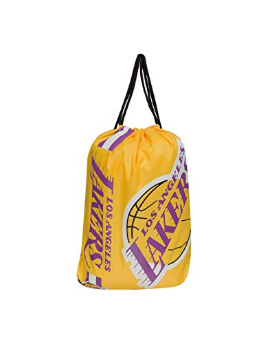 Forever Collectibles Los Angeles Lakers Cropped Logo Drawstring Backpack Gym